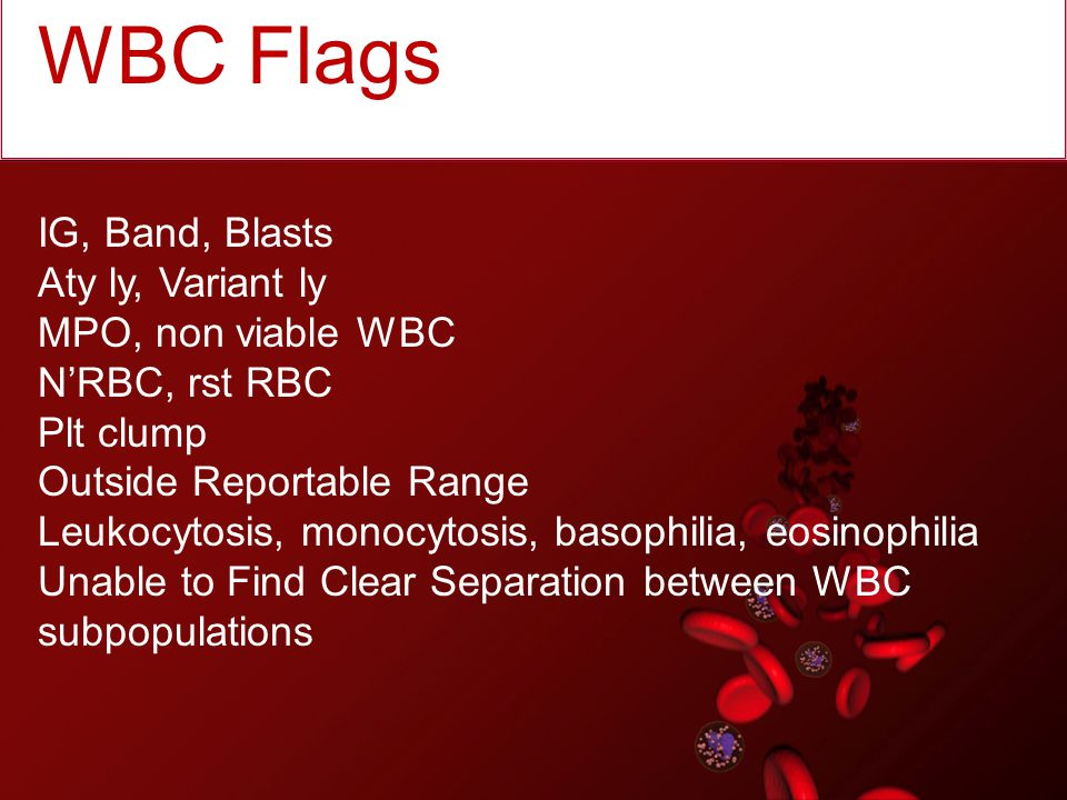 Shoulder on the left of curve: N'rbc Lyse resistant RBC Platelet clumps/ Giant platelets Fibrin Impedance noise