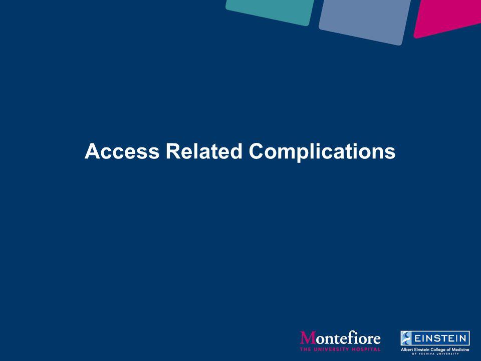 Access Related Complications Michael Stifelman M.D.