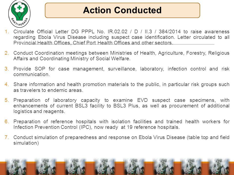 1.Circulate Official Letter DG PPPL No.