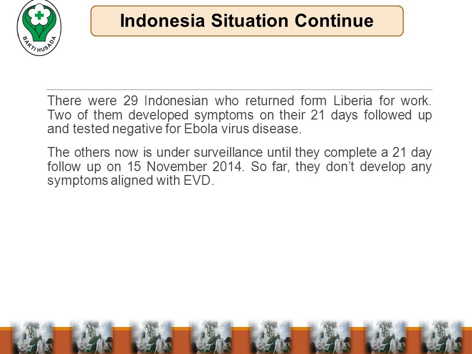 There were 29 Indonesian who returned form Liberia for work.