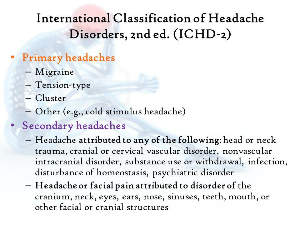 International Classification of Headache Disorders, 2nd ed.