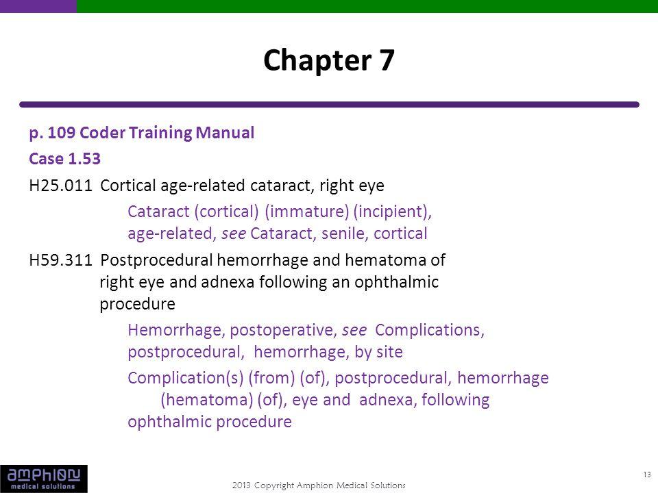 2013 Copyright Amphion Medical Solutions p.