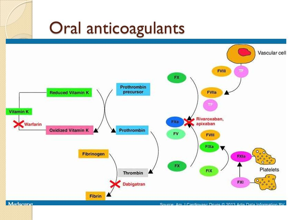 Oral anticoagulants Direct thrombin inhibitor