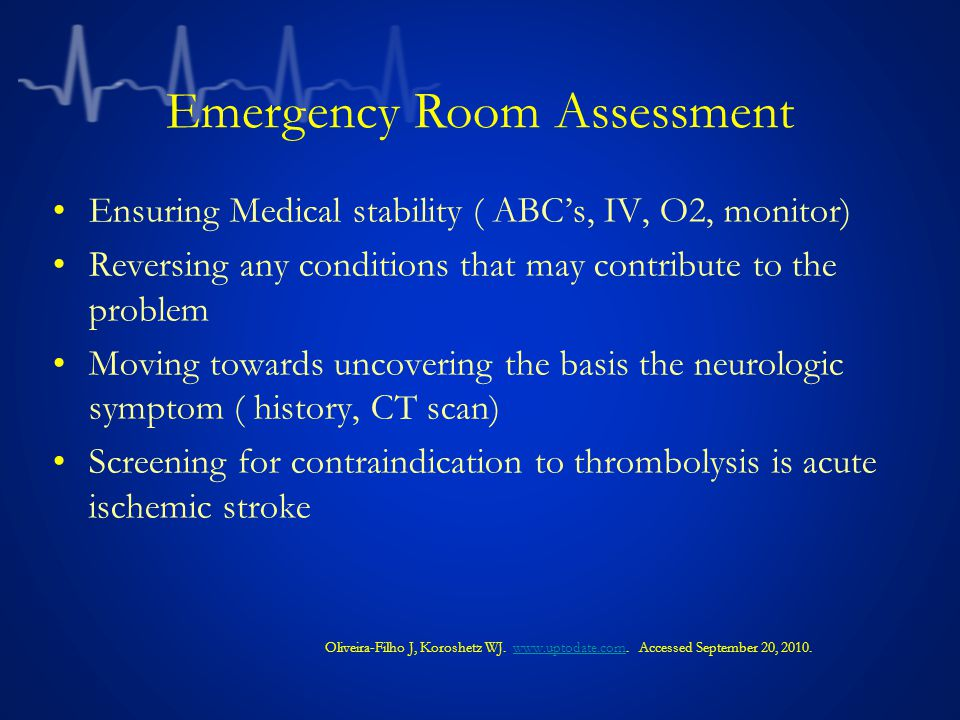 Ensuring Medical stability ( ABC's, IV, O2, monitor) Reversing any conditions that may contribute to the problem Moving towards uncovering the basis t
