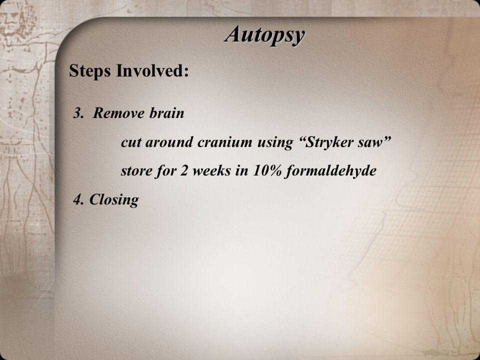 Autopsy Steps Involved: 3.