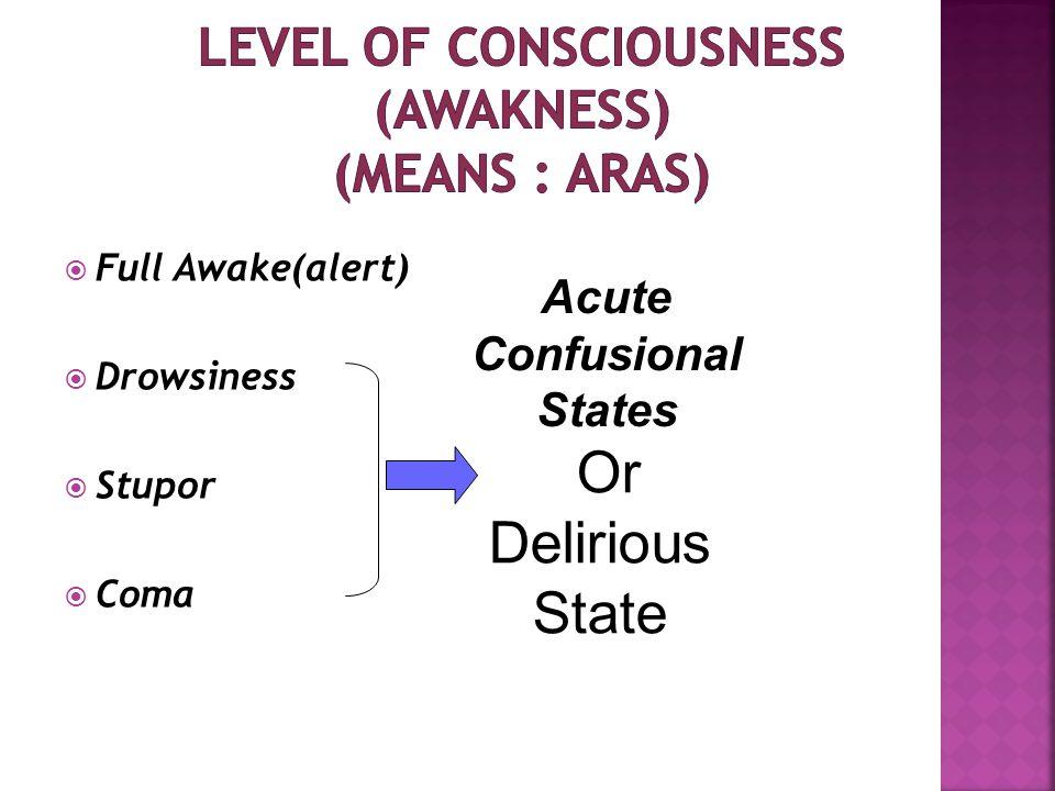  EEG ∝ ↓LOC  EEG can determine the level of consciuosness