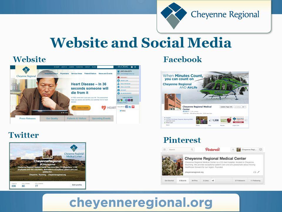 Website and Social Media WebsiteFacebook Pinterest Twitter
