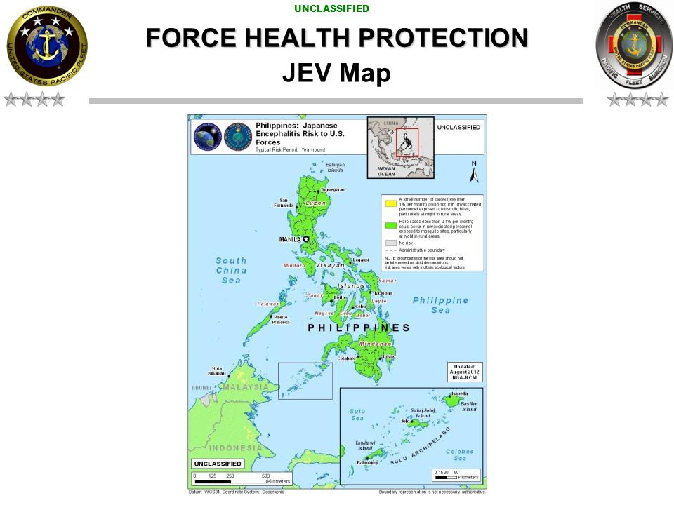 UNCLASSIFIED JEV Map FORCE HEALTH PROTECTION