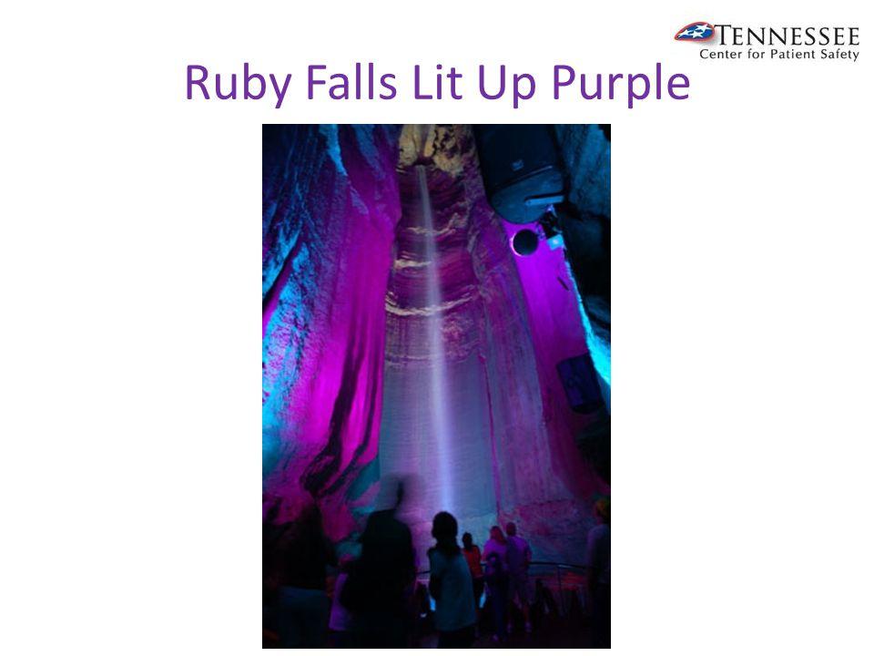 Ruby Falls Lit Up Purple