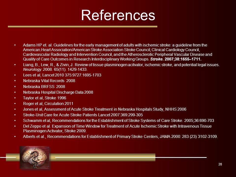References Adams HP et. al.