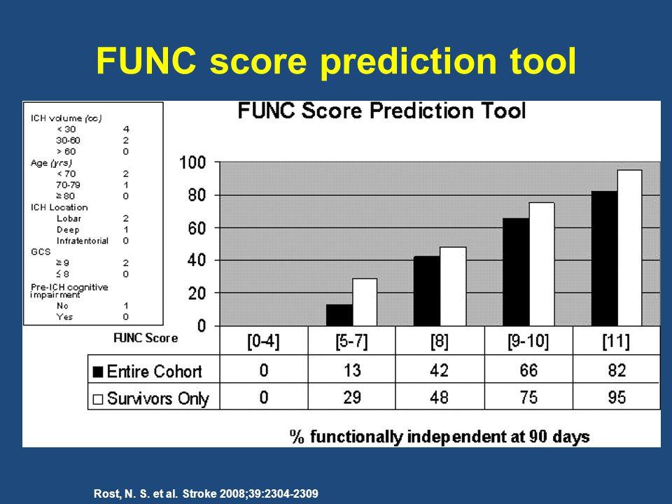 Rost, N. S. et al. Stroke 2008;39:2304-2309 FUNC score prediction tool