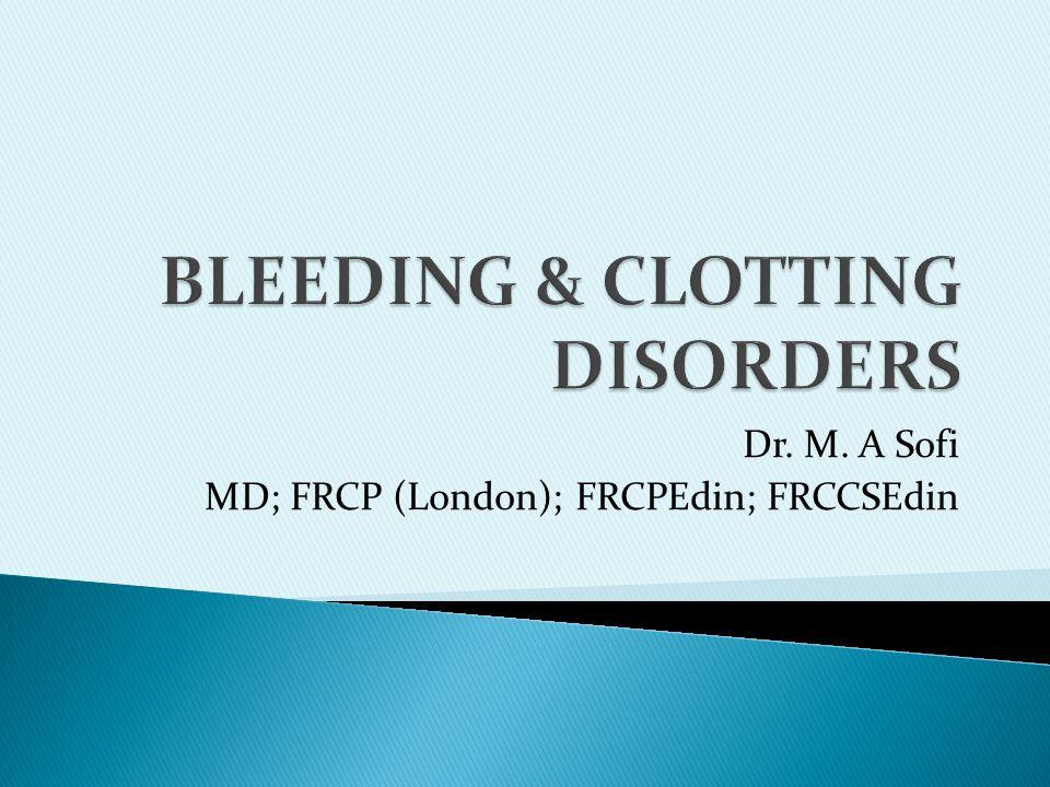 Dr. M. A Sofi MD; FRCP (London); FRCPEdin; FRCCSEdin