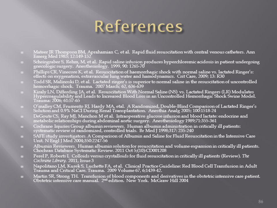  Mateer JR Thompson BM, Aprahamian C, et al.