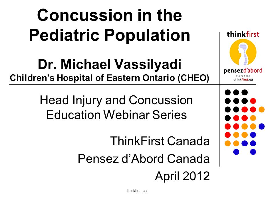 Pilot Study Findings - May 2011 to Present 15 children who sustained sport-related head injuries and remained symptomatic at three months following their injuries, agreed to participate in a Concussion Research Project Approximately twenty other children were assessed but did not meet all of the inclusion criteria for inclusion in the pilot study