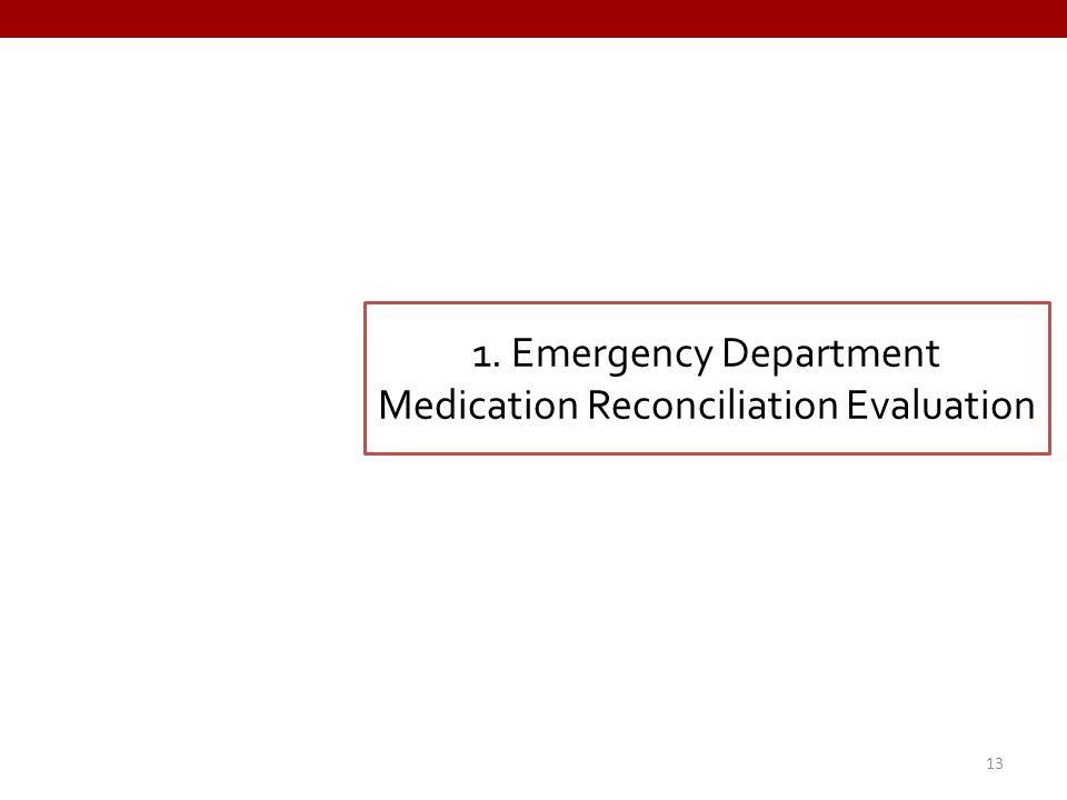 1. Emergency Department Medication Reconciliation Evaluation 13