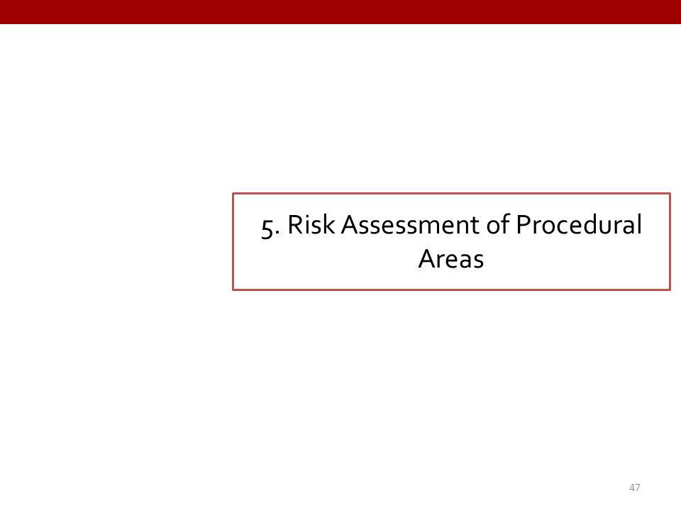 5. Risk Assessment of Procedural Areas 47