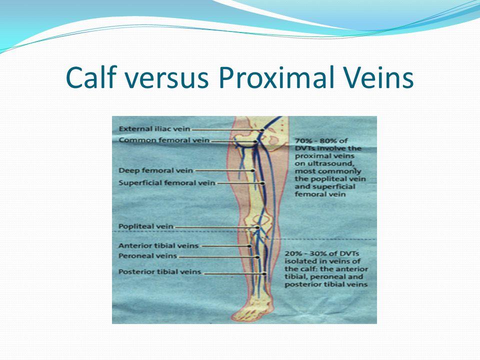 Calf versus Proximal Veins