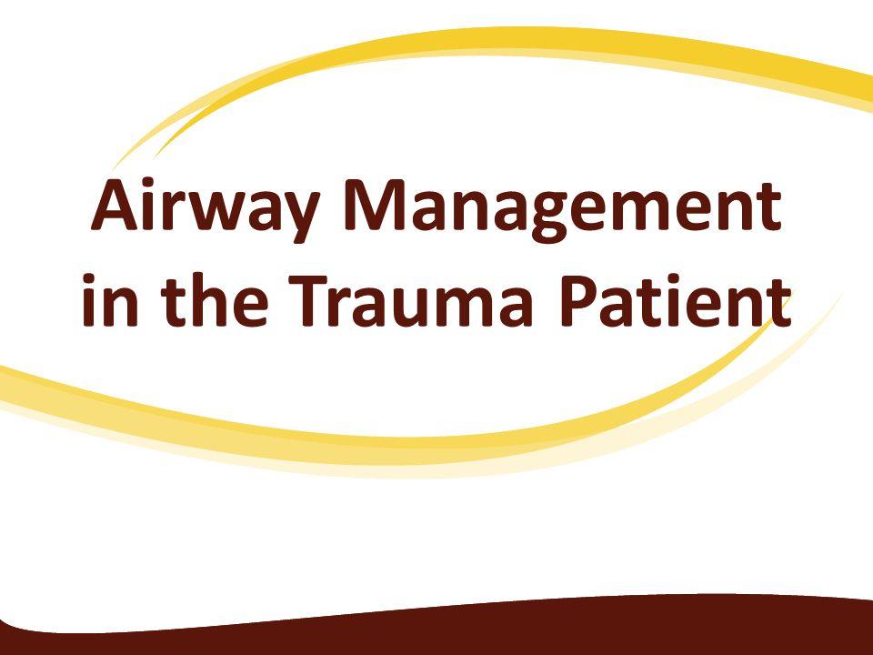 Airway Management in the Trauma Patient