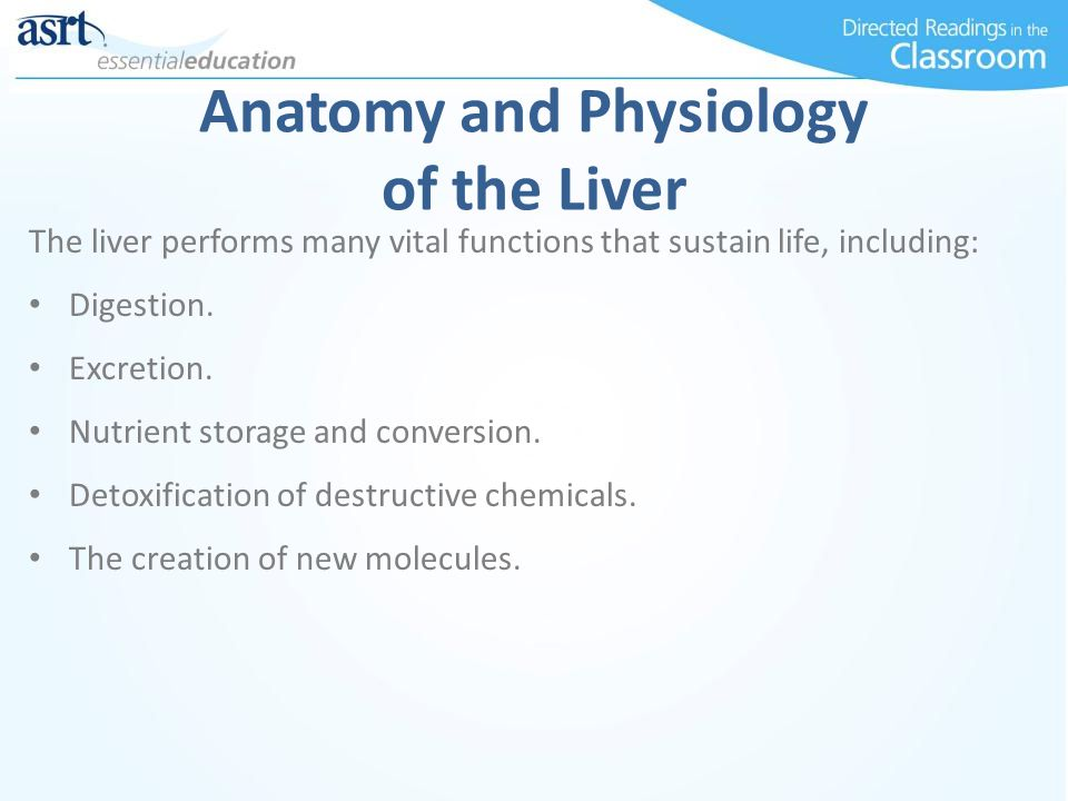 Anatomy and Physiology of the Liver The liver performs many vital functions that sustain life, including: Digestion. Excretion. Nutrient storage and c
