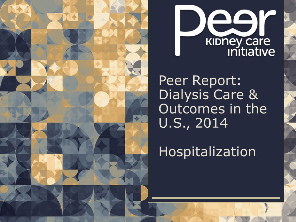 | 132Peer Report: Dialysis Care & Outcomes in the U.S., 2014 | Hospitalization 30-day readmission rates among live discharges on chronic dialysis, overall & by U.S.