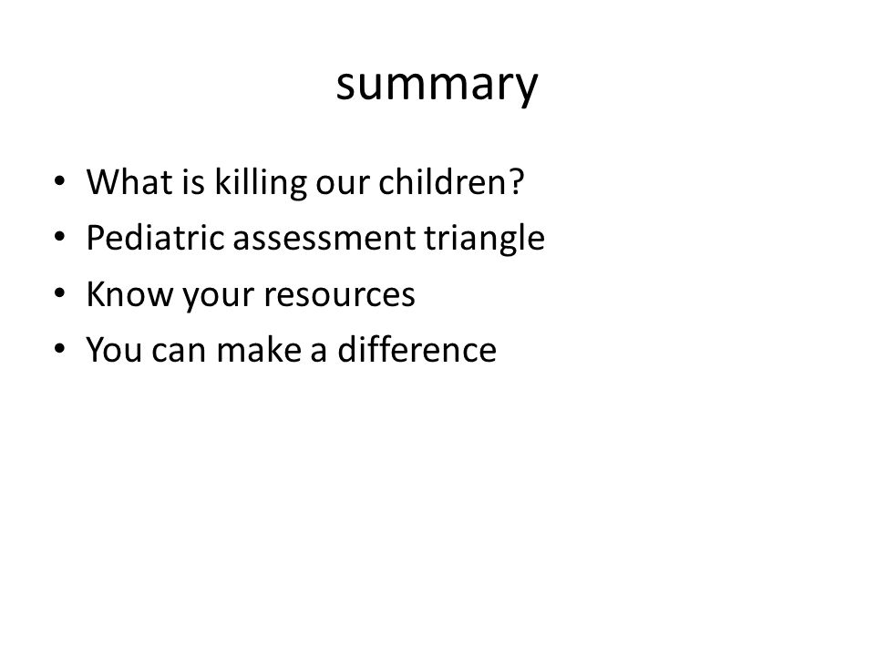 summary What is killing our children.