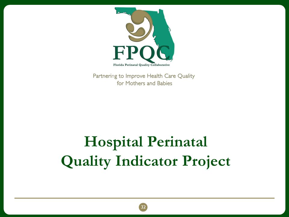 Hospital Perinatal Quality Indicator Project 32
