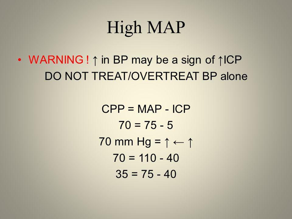 High MAP WARNING .