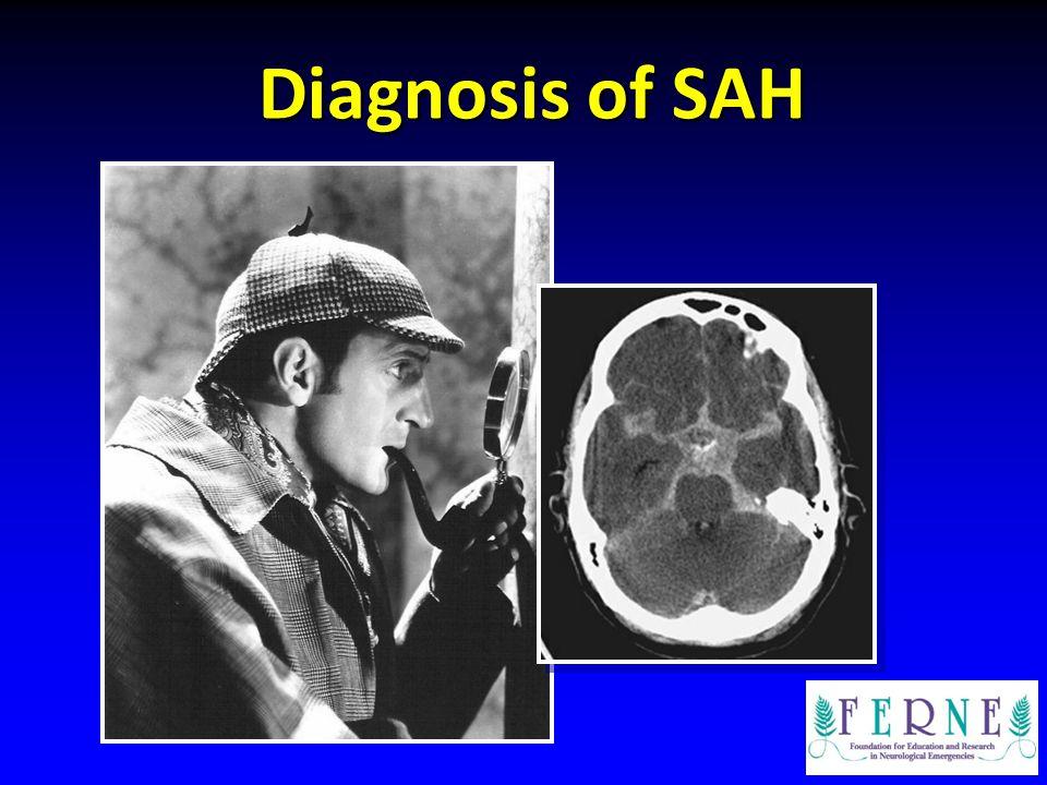 Diagnosis of SAH