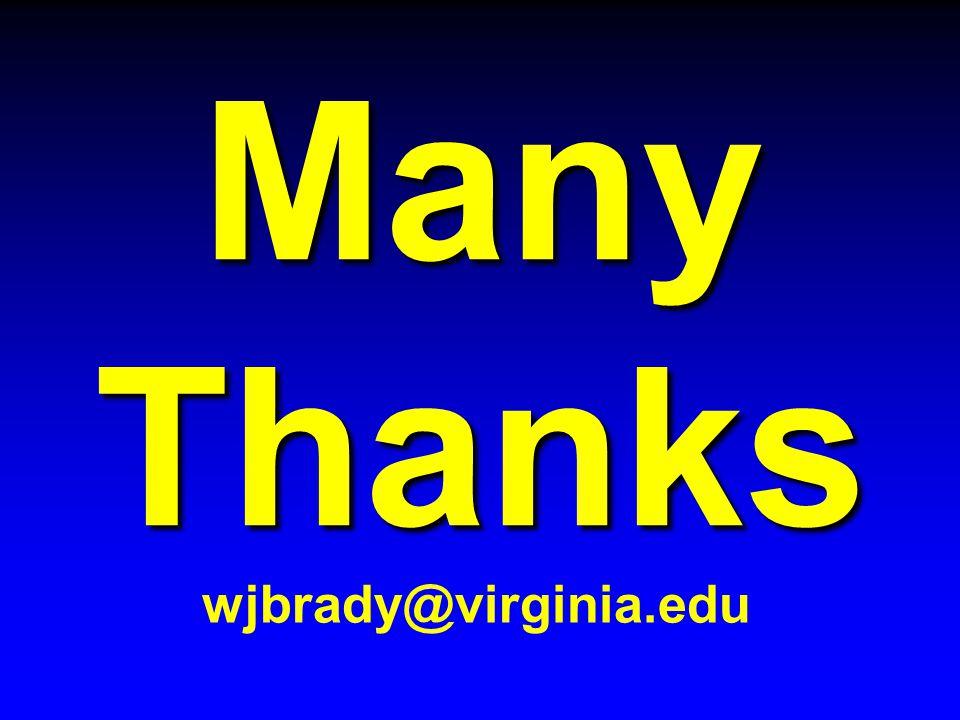Many Thanks wjbrady@virginia.edu