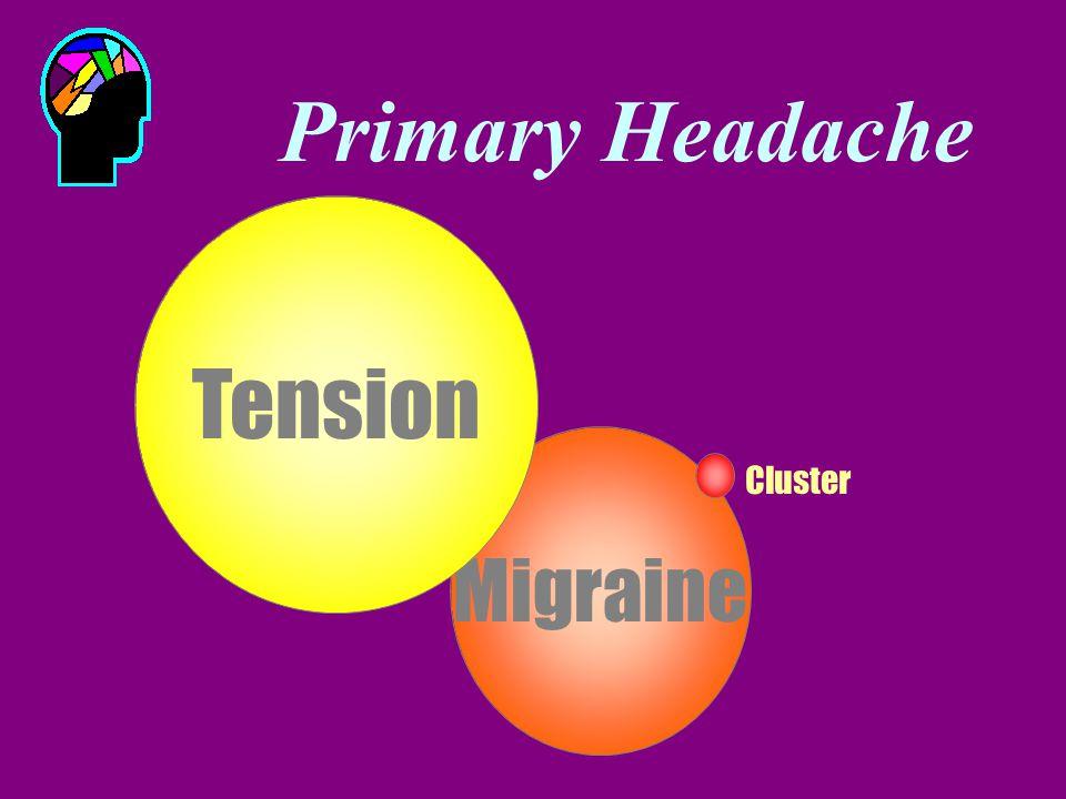 Primary Headache Migraine Tension Cluster