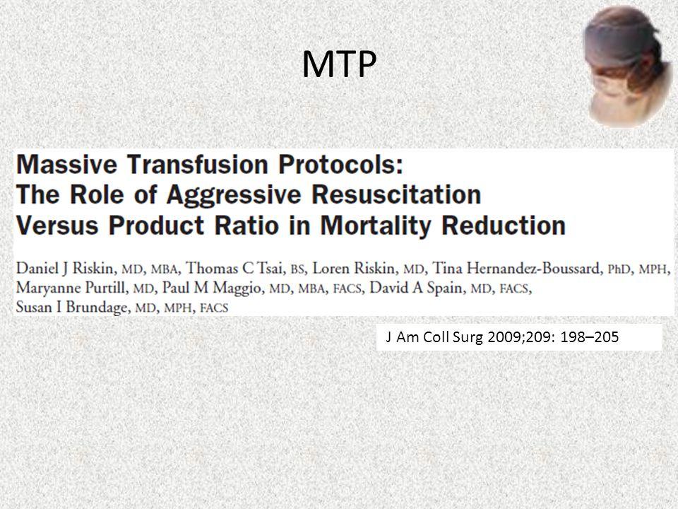 MTP J Am Coll Surg 2009;209: 198–205