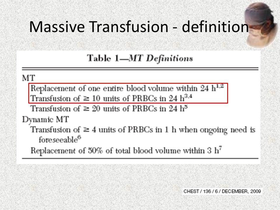 Massive Transfusion - definition