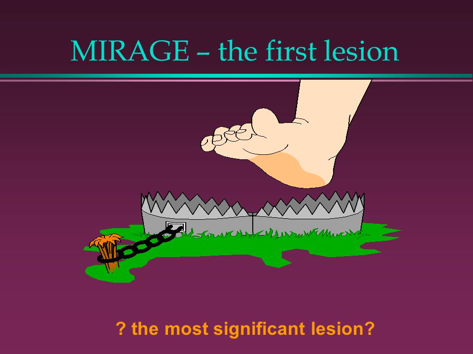 MIRAGE – the first lesion ? the most significant lesion?
