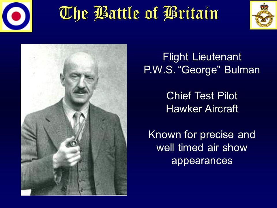 The Battle of Britain Flight Lieutenant P.W.S.