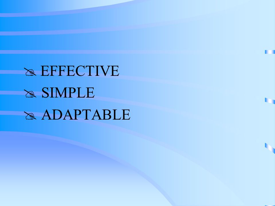  EFFECTIVE  SIMPLE  ADAPTABLE
