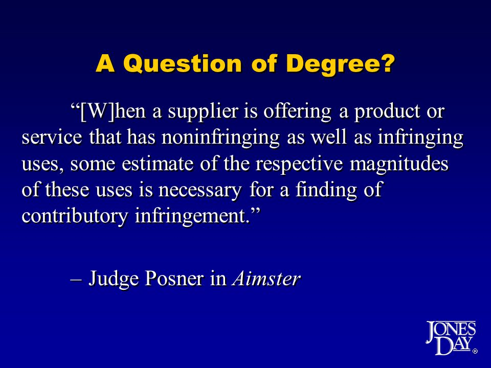  A Question of Degree.