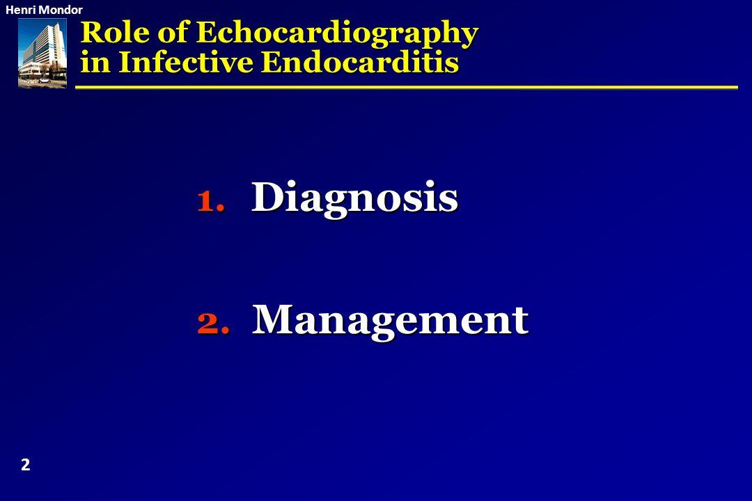 Henri Mondor Adapted antibiotics (D+10) Prosthetic valve endocarditis: Repeat TEE if non operated 23