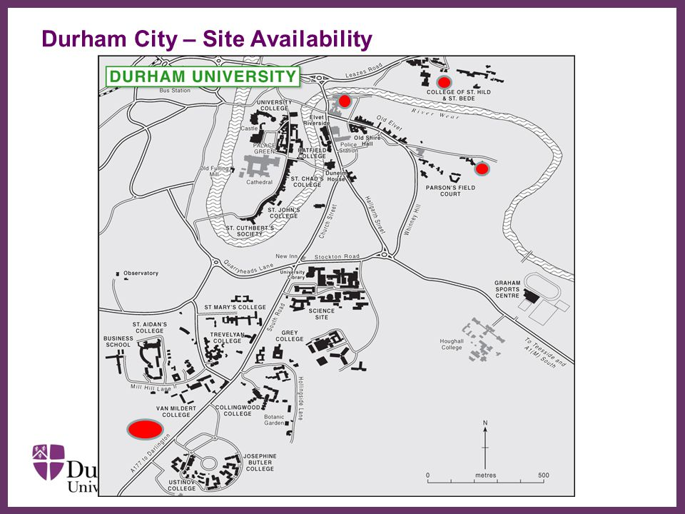 ∂ Durham City – Site Availability