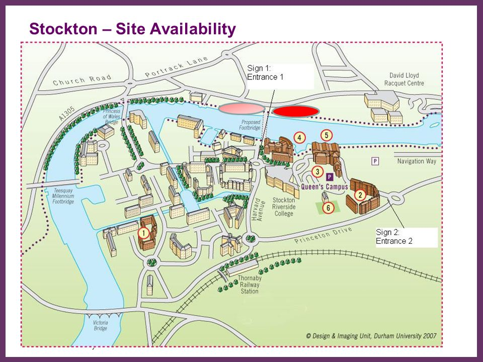 ∂ Stockton – Site Availability