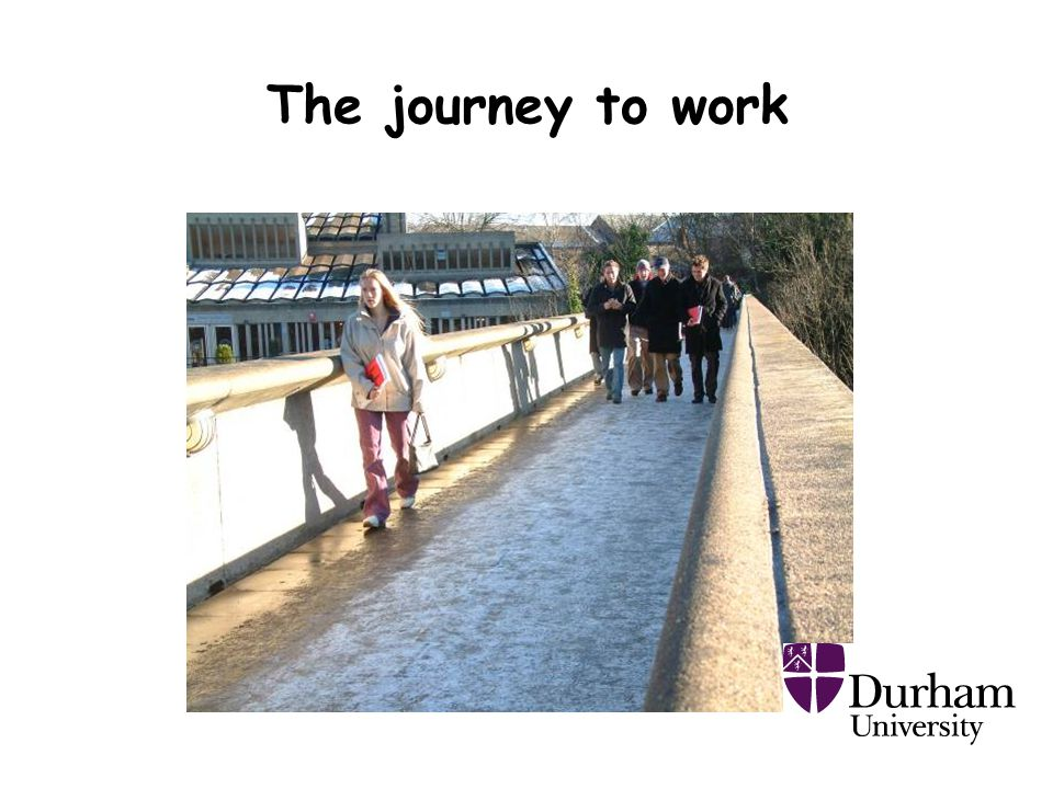 The journey to work