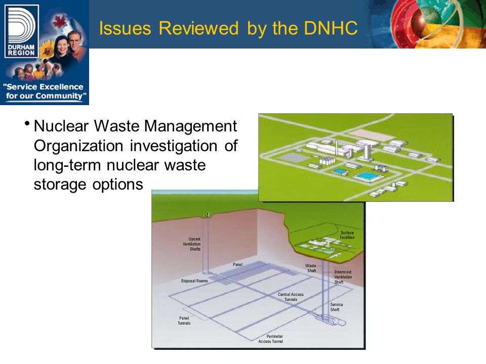 Issues Reviewed by the DNHC Nuclear Waste Management Organization investigation of long-term nuclear waste storage options
