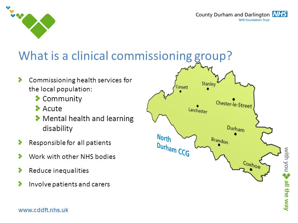 www.cddft.nhs.uk What is a clinical commissioning group.