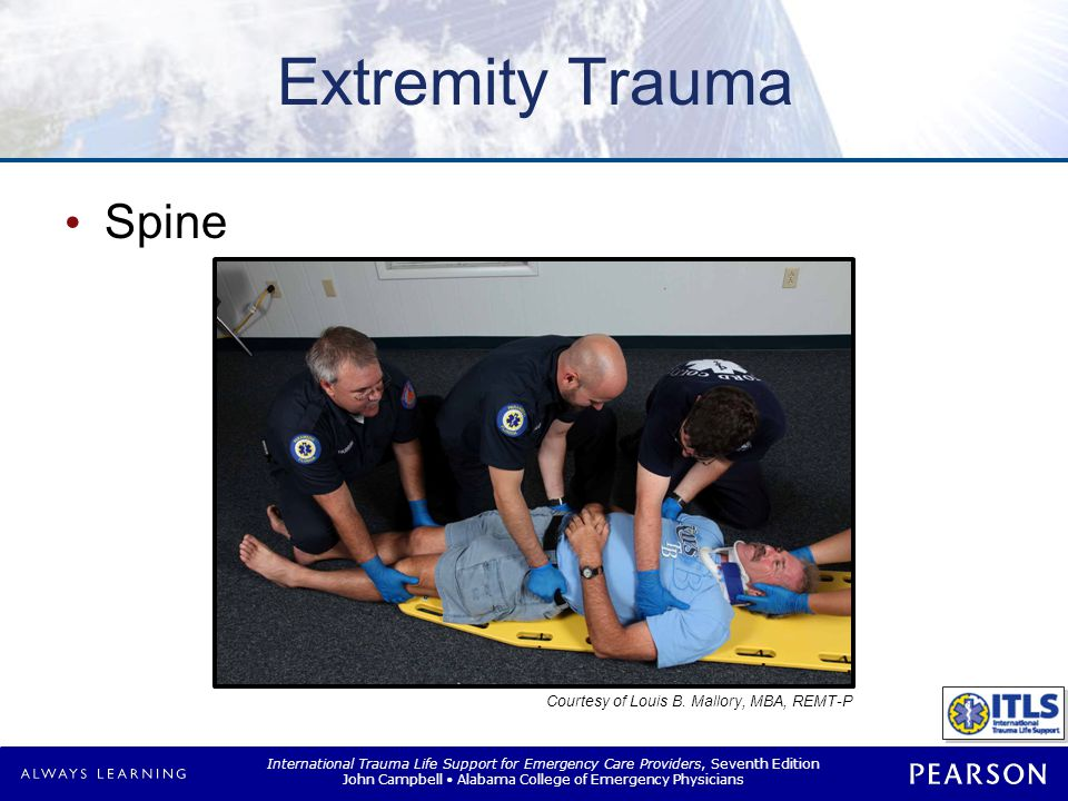 International Trauma Life Support for Emergency Care Providers, Seventh Edition John Campbell Alabama College of Emergency Physicians Extremity Trauma