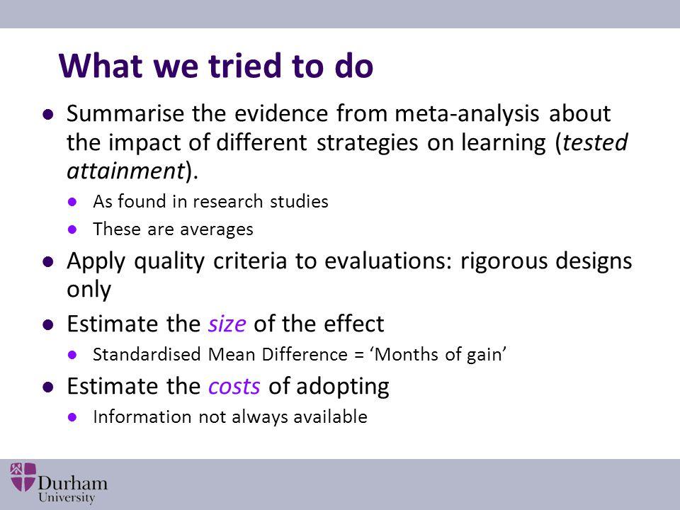 Establishing a baseline Teacher assessment vs standardised tests.