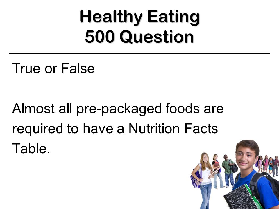 Healthy Eating 400 Answer 400 Answer 400 Answer BACK