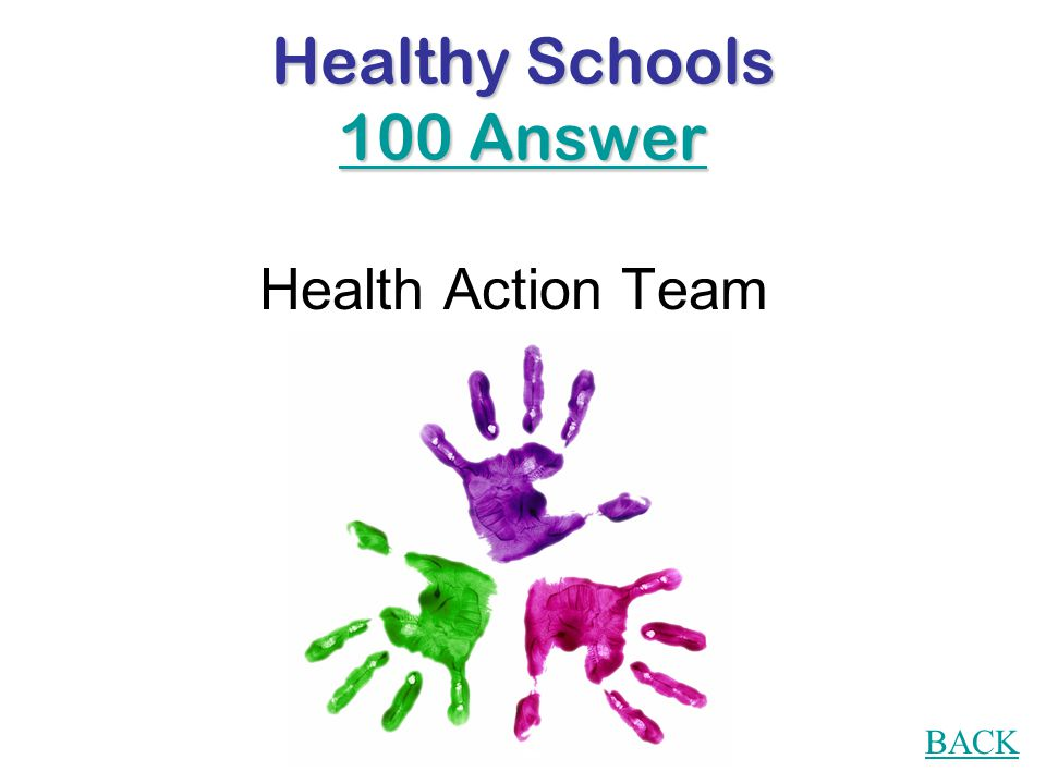 Healthy Schools 100 Question What is a HAT