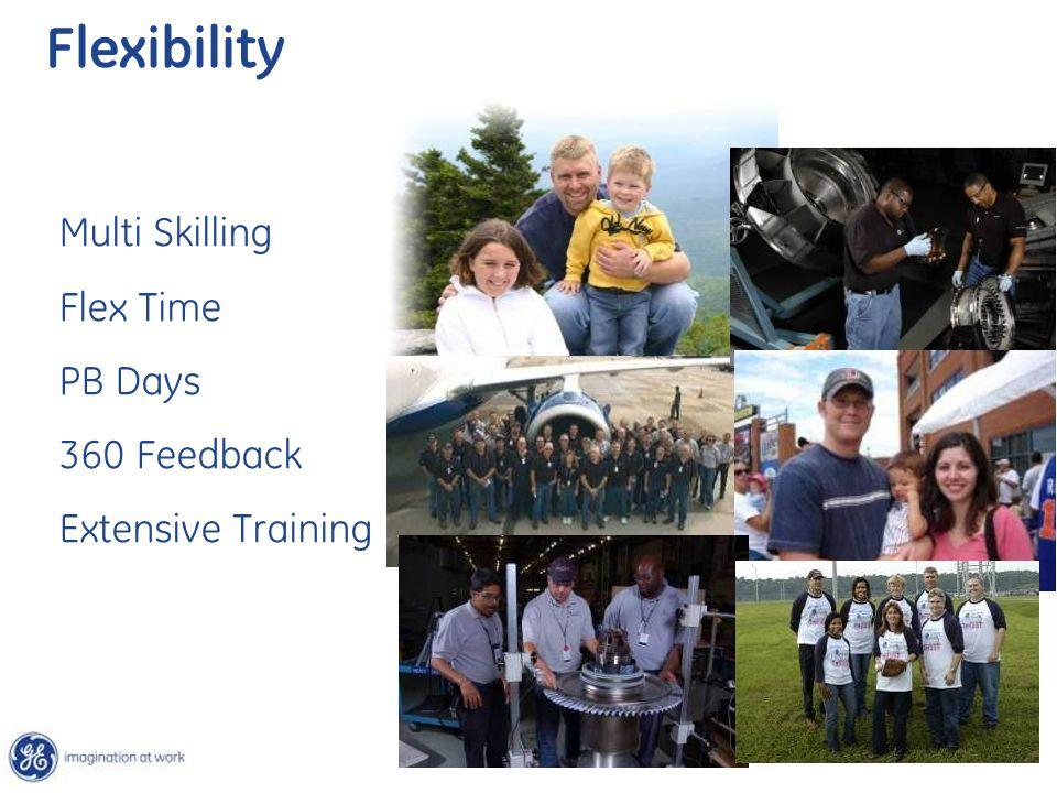 Multi Skilling Flex Time PB Days 360 Feedback Extensive Training Flexibility