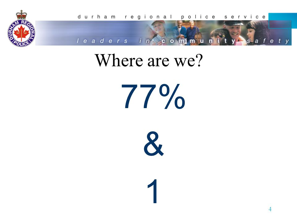 Where are we 77% & 1 4