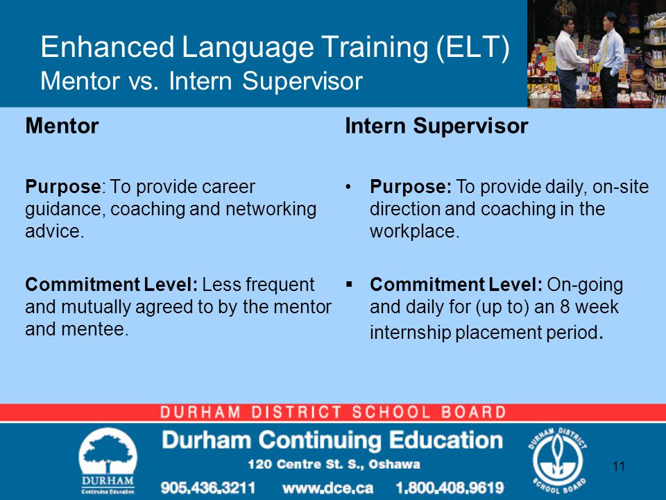 Enhanced Language Training (ELT) Mentor vs.