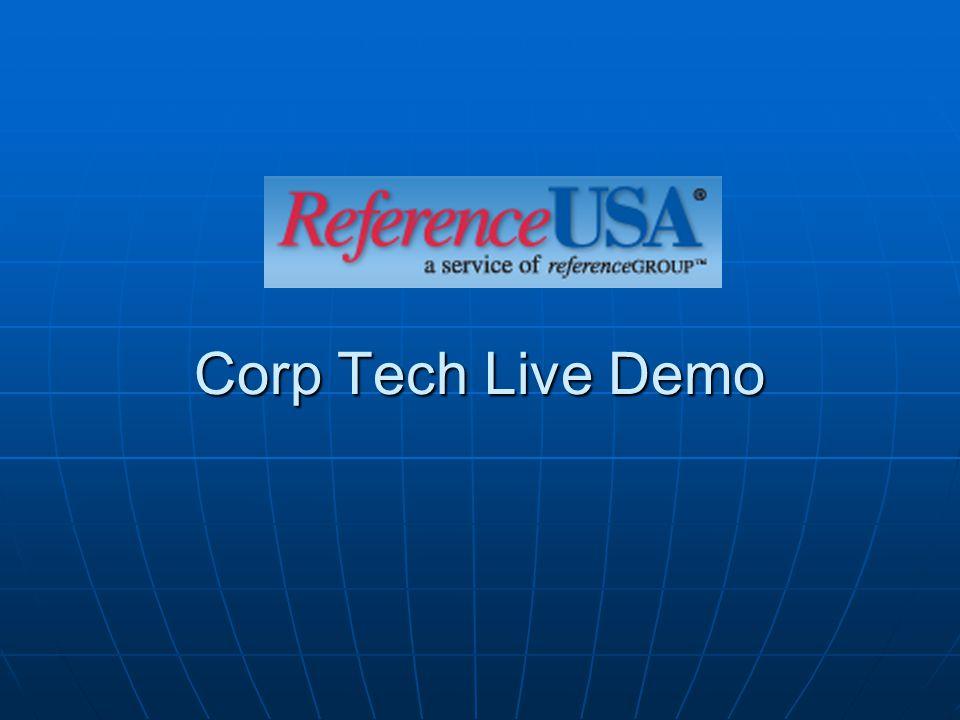 Corp Tech Live Demo